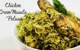 Chicken Green Masala Pulao